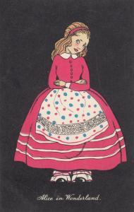 Alice In Wonderland 1940s Fashion Glamour Postcard