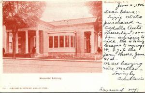New York Monton Falls Memorial Library 1906