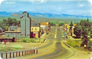 Lander WY Street View Old Cars Phillips 66 Sign Vintage Store Fronts Postcard