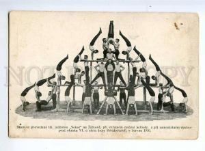 236331 Czech sokol WRESTLERS & ATHLETES Vintage postcard