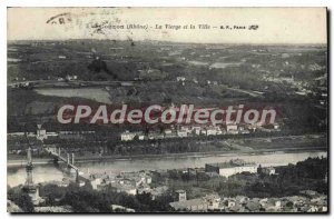 Postcard Old Couzon The Virgin And The City