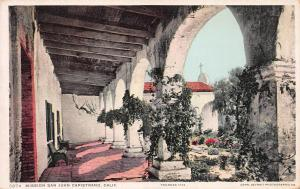 Mission San Juan Capistrano, California, Early Postcard, Unused
