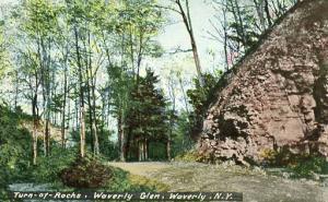 NY - Waverly. Turn of Rocks, Waverly Glen