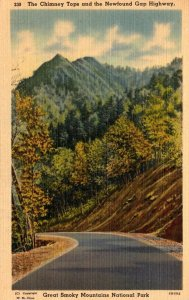 Tennesse Smoky Mountains National Park Chimney Tops and Newfound Gap Highway