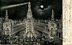 NY - Coney Island. Luna Park at Night   (glitter)