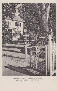 Massachusetts Wellesley The Wagon Wheels Wellesley Inn Albertype