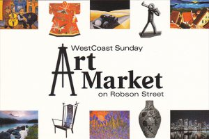 Advertising West Coast Sunday Art Market Robson Street Vancouver Canada