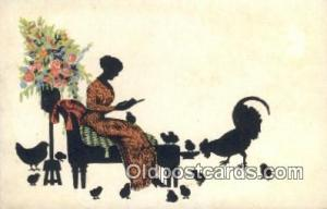 No 35/6 Silhouette Postcard Post Card Old Vintage Antique  No 35/6