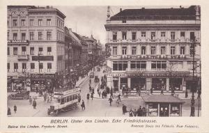 BERLIN, Germany, 1900-1910's; Below The Linden., Frederic Street