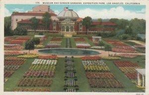 LOS ANGELES, California, 1910s; Museum & Sunken Gardens, Exposition Park