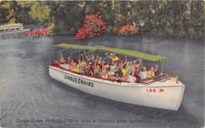 SILVER SPRINGS FL JUNGLE CRUISE AND SCENIC SUB #2 BOATS LOTOF 2 POSTCARDS c1940s