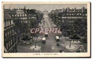 Old Postcard Paris Opera Avenue I