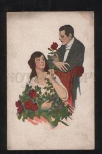 068979 Lovers ROSES Harrison FISHER Rare AT POLYPHOT Finnish