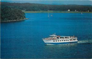 Haddam Connecticut~One Marine Park~New England Steamboat Lines~1950s Postcard