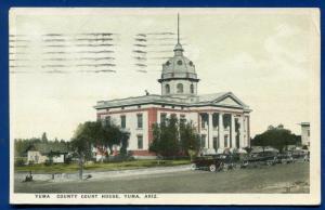 Yuma County Court House Yuma Arizona az old postcard