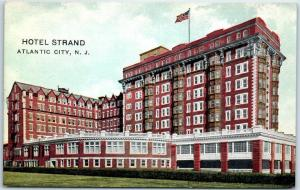 Atlantic City, New Jersey Postcard HOTEL STRAND Building View c1910s Unused