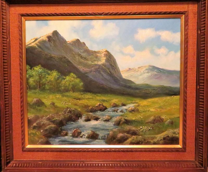 Beautiful Oil Painting by Artist Masao Kinoshita who goes by M. Kinoshita whe...