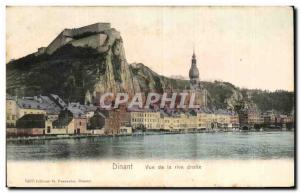 Old Postcard Dinant on the right bank View