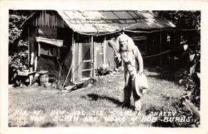 Arkansas AR Postcard VAN BUREN Bob Burns Pla-Ay Baw-Wal Grandpa Snazzy RPPC