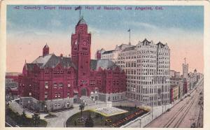 Air view, Country Court House and Hall of Records, Los Angeles, California, 0...