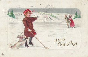 CHRISTMAS , 1912 ; Ice Hockey