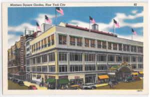 Madison Square Garden New York Deep Color Excellent Condition Vintage Postcard