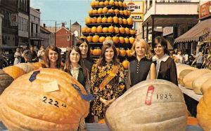 F37/ Circleville Pickaway County Ohio Postcard 1971 Pumpkin Festival Queen 2