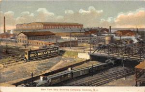 8996  NJ Camden New York Ship Building Company Geo.  Kelly´s Market Billboard