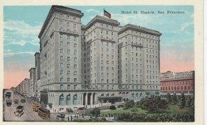 SAN FRANCISCO, California, 1900-10s; St. Francis Hotel , Trolleys