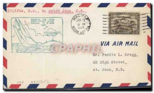 Letter Canada Halifac 1st Flight to Saint John January 28, 1929