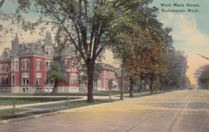 KALAMAZOO , Michigan, PU-1912 ; West Main Street