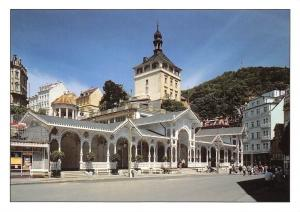 Czech R. Karlovy Vary, Market Colonnade and Castle Tower