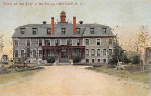 RHODE ISLAND RI Postcard c1910 LONSDALE Abbey of Our Lady of the Valley FRONT