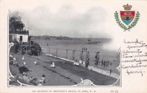 ST. JOHN , New Brunswick , Canada , PMC 1898 ; Sea Bathing, Beatteay's Beach