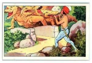 Prince Blows Flute, Scares Dragon, Golden Bird, Echte Wagner German Trade Card