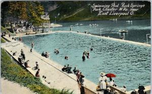 CHESTER, WV West Virginia  SWIMMING POOL at ROCK SPRINGS Park  c1910s   Postcard