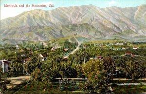 California Monrovia Panorama With The Mountains