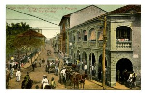 Panama - Panama City. Main Street, Governor Maggoon in Lead Carriage