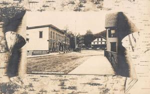 Bristol New Hampshire West Side Central Square Real Photo Antique PC K29043