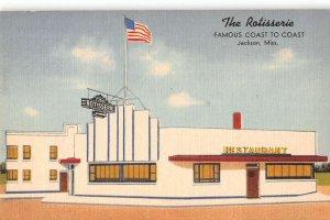 Jackson Mississippi The Rotisserie Linen Vintage Postcard AA16732
