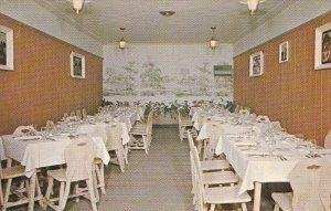 Cafe Laurier interior, ST-LIN des Laurentides , Quebec , Canada , 50-60s