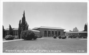 Arizona Florence Union High School 1930s RPPC Photo Postcard 3414