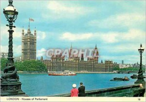 Postcard Modern London Houses of Parliament