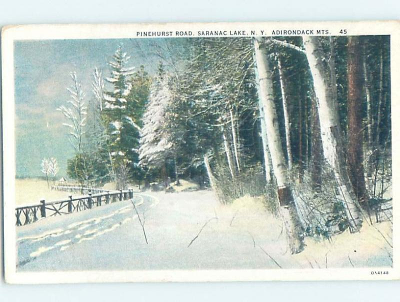 Unused W-Border STREET SCENE Adirondacks - Saranac Lake New York NY W1571