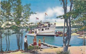 Cruise Boat Chief Commanda on The French River,  North Bay,  Ontario,  Cana...