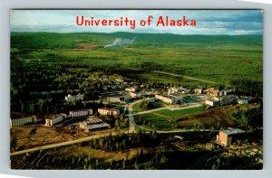 Fairbanks AK, Aerial View Of University Of Alaska, Alaska Chrome Postcard