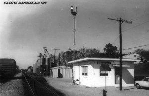 Brundidge Alabama 1974 Seaboard Coast Line train depot real photo pc ZD549418