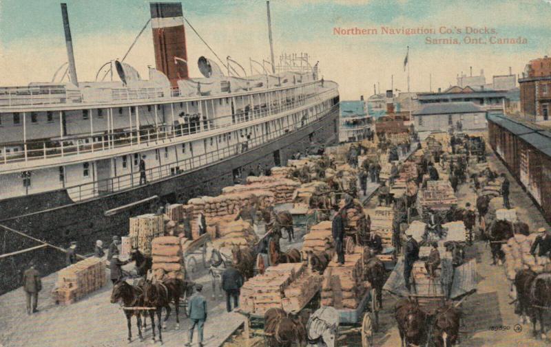 SARNIA , Ontario , 1918 ; Northern Navigation Co Docks