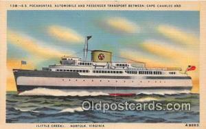 SS Pocahontas Norfolk, Virginia USA Ship Postcard Post Card Norfolk, Virginia...