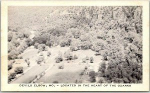 Devil's Elbow MO Postcard Located in the Heart of the Ozarks Route 66 c1940s